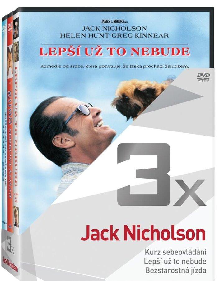 3x Jack Nicholson (Kurs sebeovládání, Lepší už to nebude, Bezstarostná jízda) - kolekce (3xDVD)