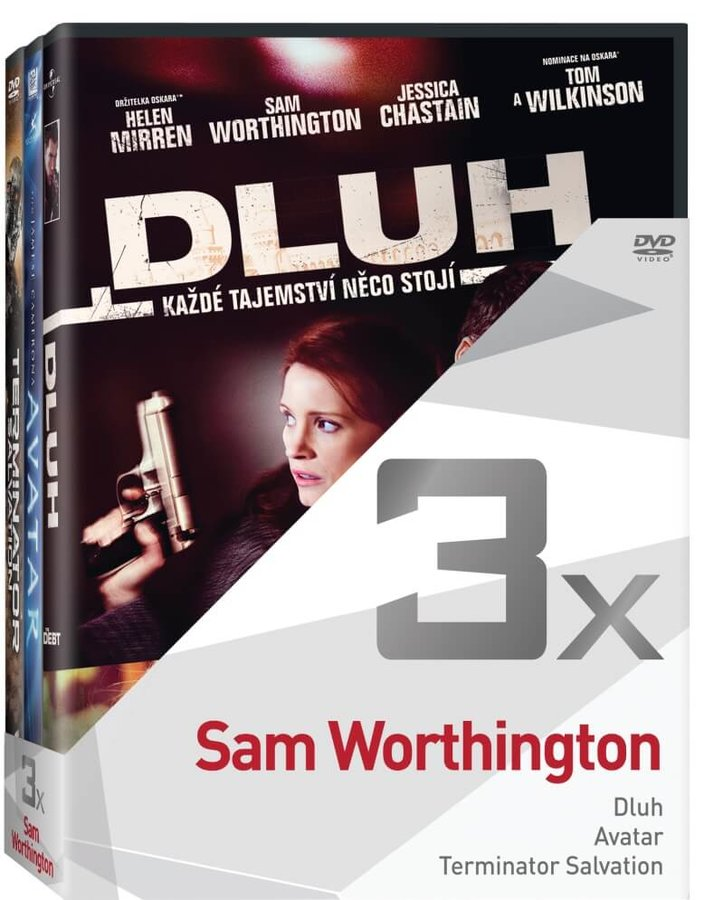 3x Sam Worthington (Dluh, Avatar, Terminator Salvation) - kolekce (3xDVD)