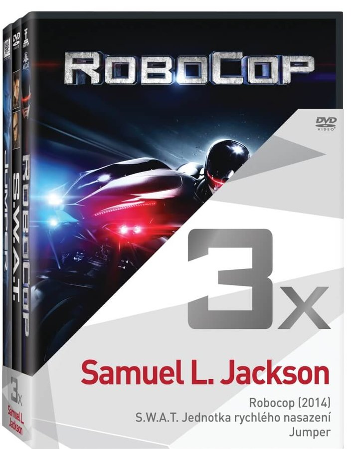 3x Samuel L. Jackson (Robocop, SWAT, Jumper) - kolekce (3xDVD)