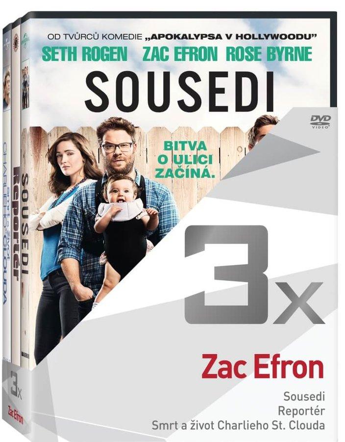 3x Zac Efron (Sousedi, Reportér, Smrt a život Charlieho St. Clouda) - kolekce (3xDVD)