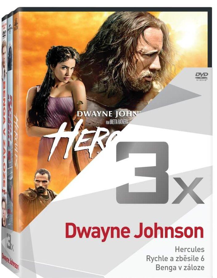 3x Dwayne Johnson (Hercules, Rychle a zběsile 6, Benga v záloze) - kolekce (3xDVD)