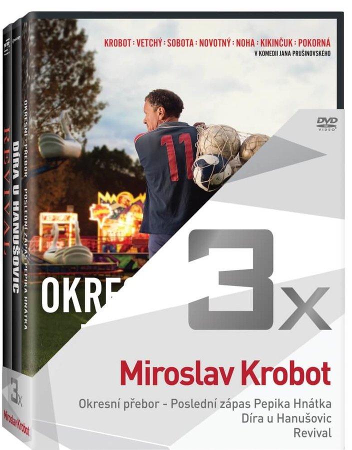 3x Krobot (Okresní přebor - Poslední zápas Pepika Hnátka, Díra u Hanušovic, Revival) - kolekce (3xDV