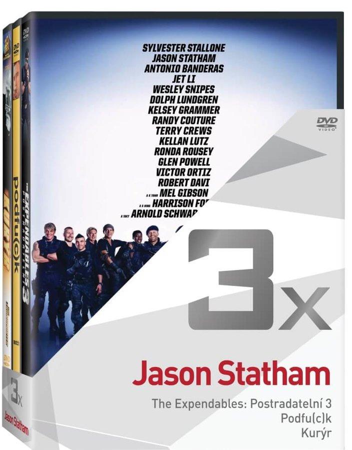 3x Jason Statham (Postradatelní 3, Podfuck, Kurýr) - kolekce (3 DVD)