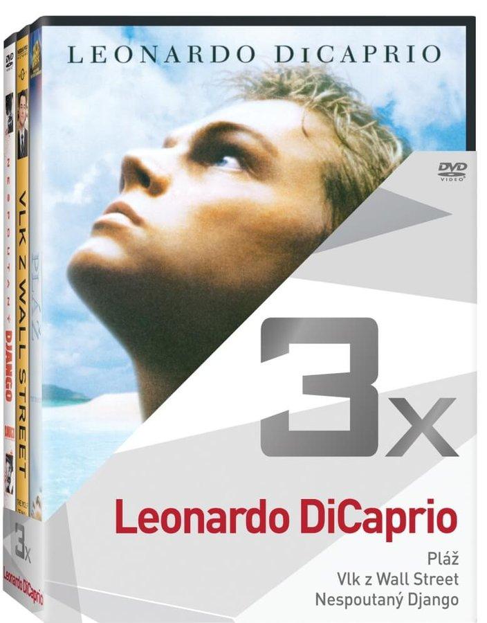 3x Leonardo DiCaprio (Pláž, Vlk z Wall Street, Nespoutaný django) - kolekce (3xDVD)