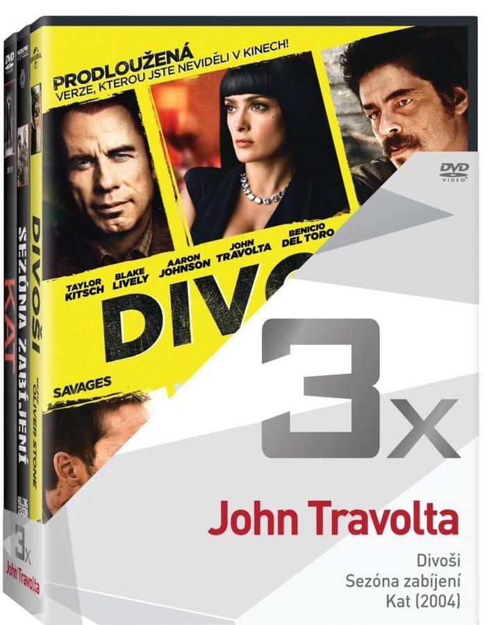 3x John Travolta (Divoši, Sezóna zabíjení, Kat) - kolekce (3xDVD)