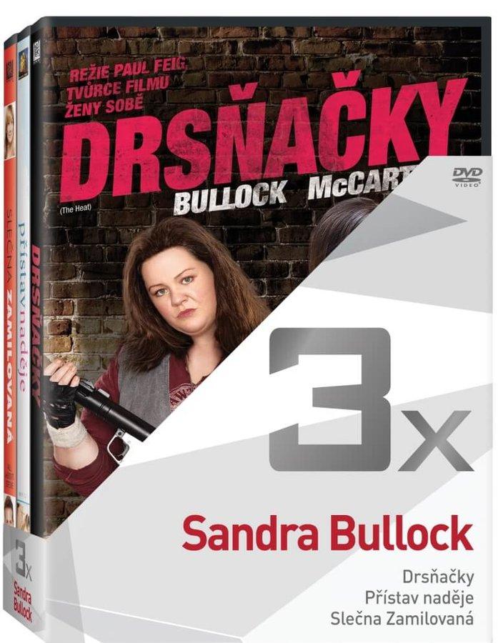 3x Sandra Bullock (Drsňačky, Přístav naděje, Slečna zamilovaná) - kolekce (3xDVD)