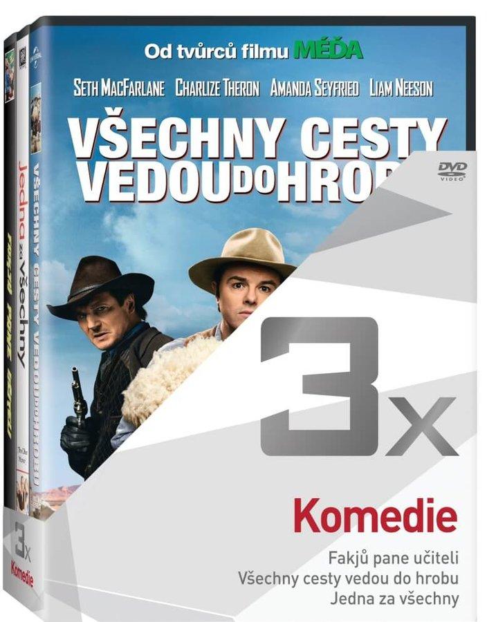 3x Komedie (Fakjů pane učiteli, Všechny cesty vedou do hrobu, Jedna za všechny) - kolekce (3 DVD