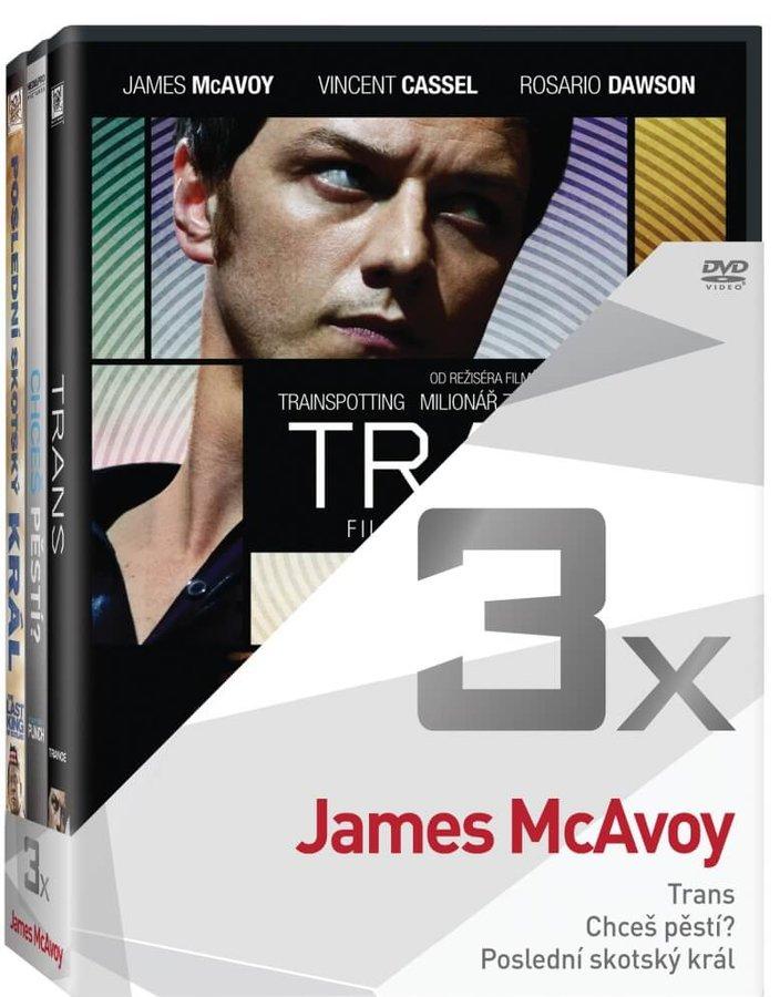 3x James McAvoy (Trans, Chceš pěstí?, Poslední skotský král) - kolekce (3xDVD)