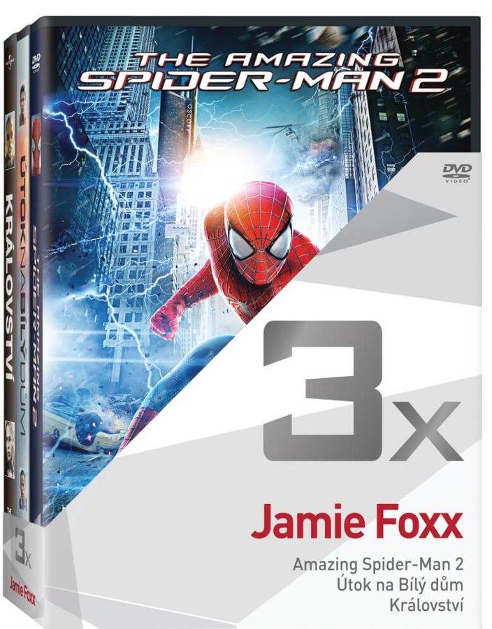 3x Jamie Foxx (Amazing Spider-Man 2, Útok na Bílý dům, Království) - kolekce (3xDVD)