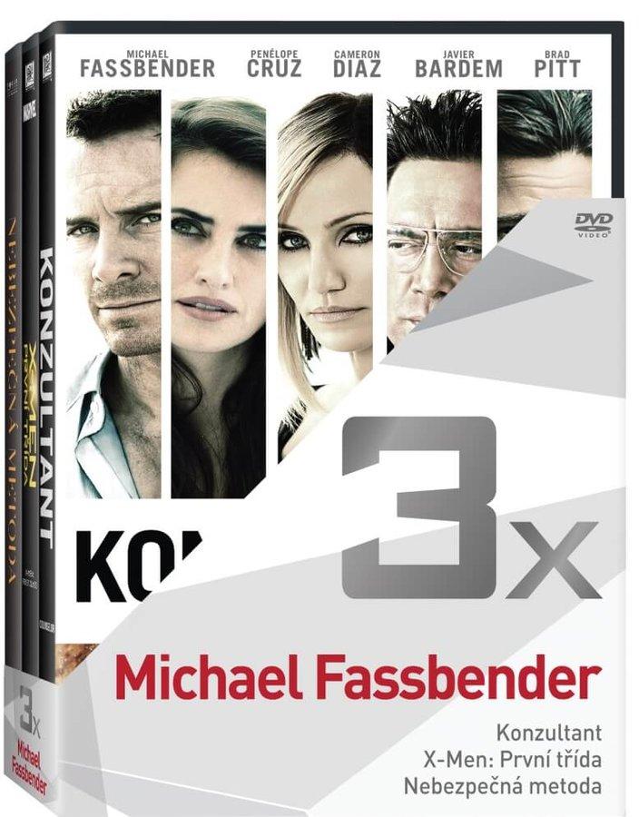 3x Michael Fassbender (Konzultant, X-Men: První třída, Nebezpečná metoda) - kolekce (3xDVD)