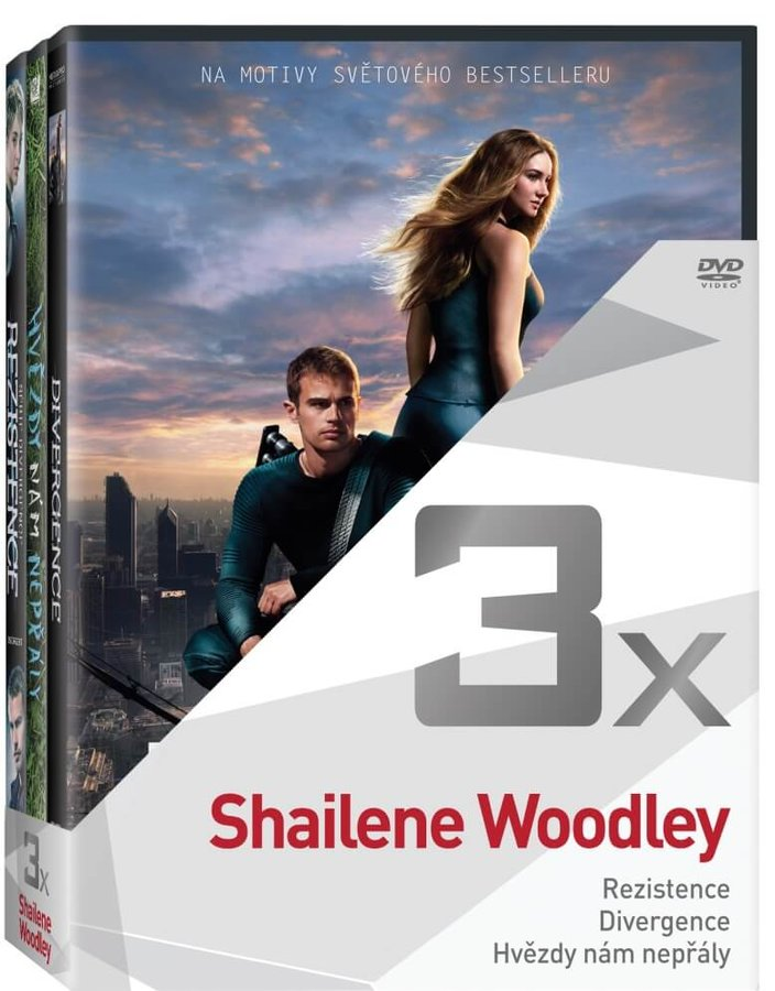 3x Shailene Woodley - kolekce (3xDVD)