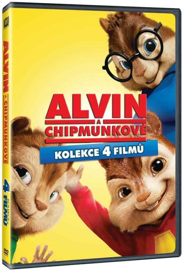 Alvin a Chipmunkové 1-4 - kolekce - 4xDVD