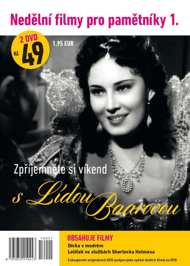 Nedělní filmy pro pamětníky 1: Lída Baarová (2 DVD) (papírový obal)