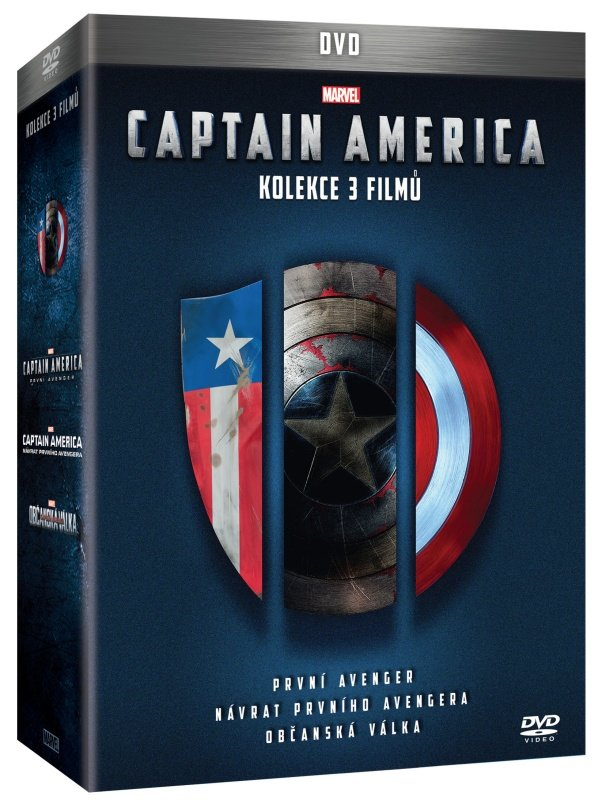 Captain America Trilogie - kolekce (3xDVD)