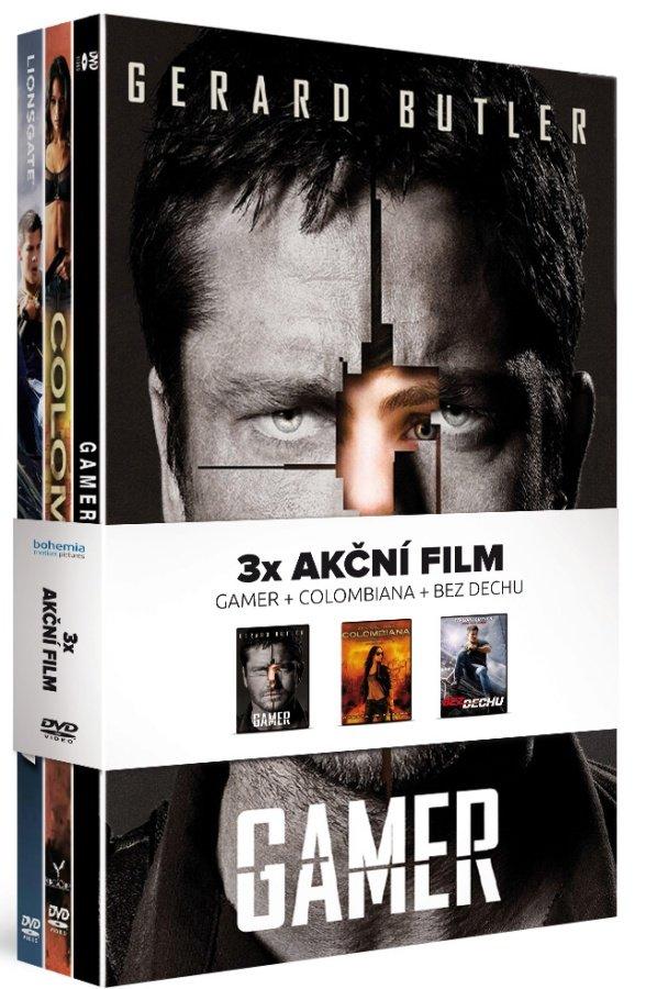 Akční film I kolekce: Gamer / Colombiana / Bez dechu - kolekce (3 DVD)