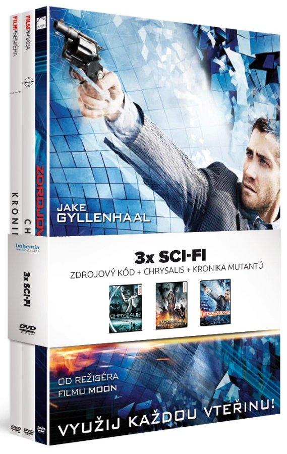 3x Sci-Fi: Zdrojový kód / Chrysalis / Kronika mutantů - kolekce (3xDVD)