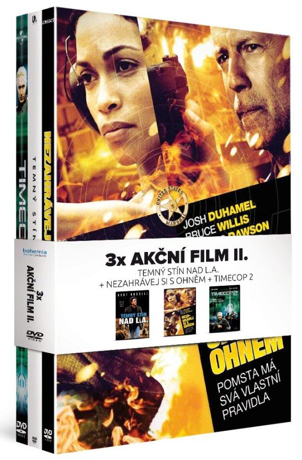 3x Akční film: Nezahrávej si s ohněm / Temný stín nad LA / Timecop 2 - kolekce (4xDVD)