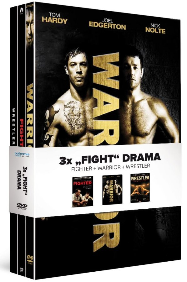 3x Fight drama: Fighter / Warrior / Wrestler - kolekce (3xDVD)
