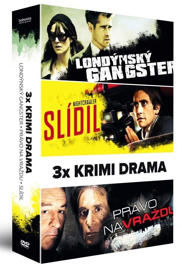 3x KRIMI DRAMA (Londýnský gangster / Slídil / Právo na vraždu) - 3xDVD