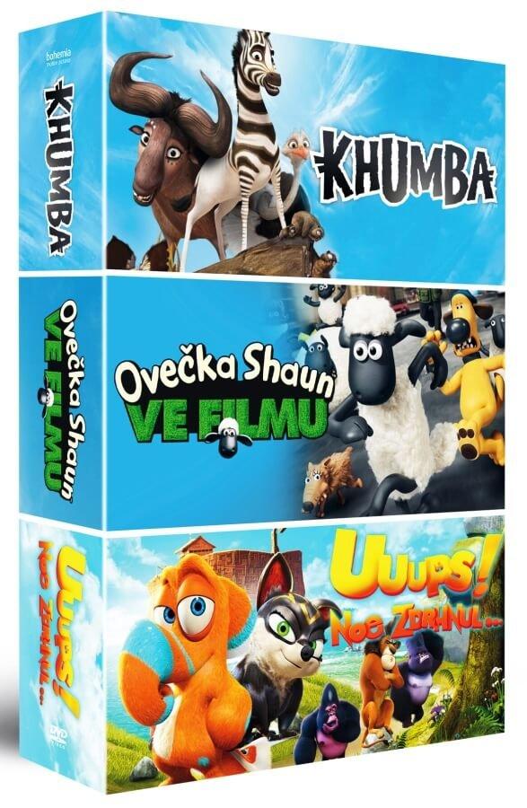 Animáky kolekce 2: Ovečka Shaun / Khumba / Uuups! Noe zdrhnul (3xDVD)