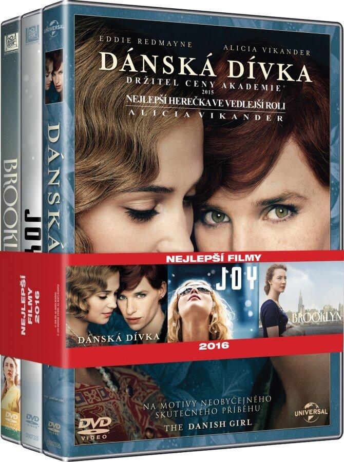 3x Nejlepší filmy pro ženy (Dánská dívka, Joy, Brooklyn) - kolekce (3xDVD)