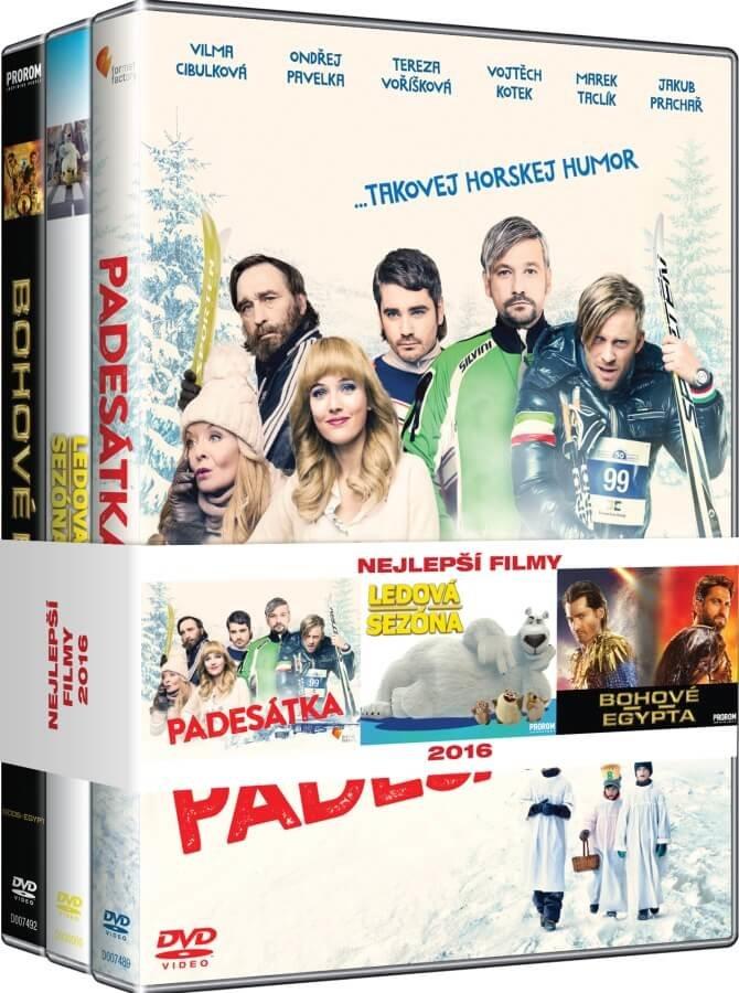 3x Nejlepší filmy pro rodinu (Padesátka, Ledová sezóna, Bohové Egypta) - kolekce (3 DVD)