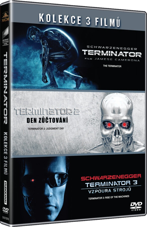 Terminator kolekce 1-3 (3 DVD)