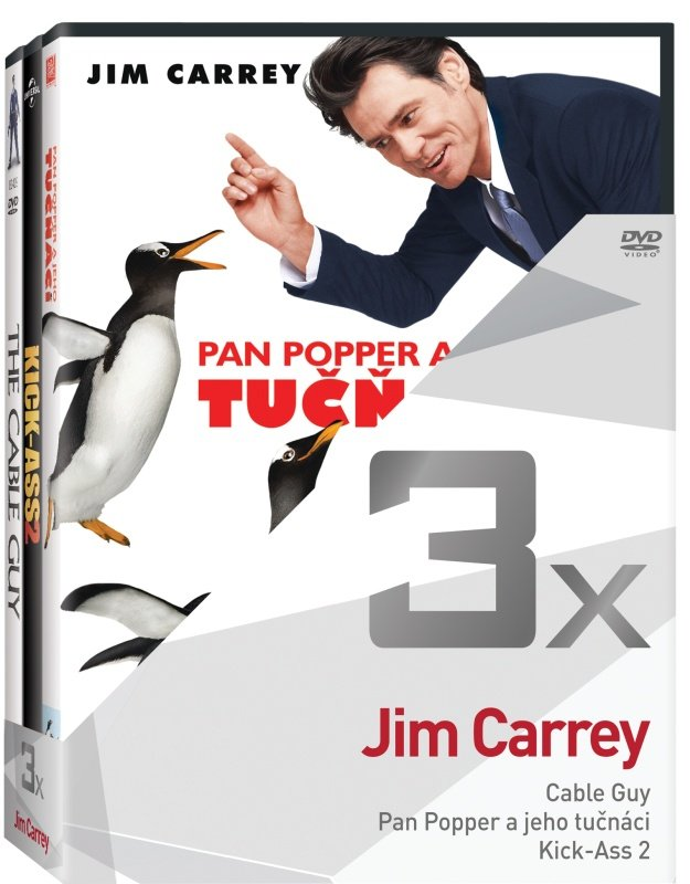 3x Jim Carrey - kolekce (Cable Guy, Pan Popper, Kick Ass 2) (3xDVD)