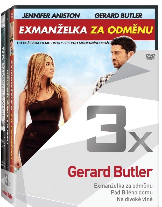 3x Gerald Butler - kolekce (Exmanželka za odměnu, Pád Bílého domu, Na divoké vlně) (3xDVD)