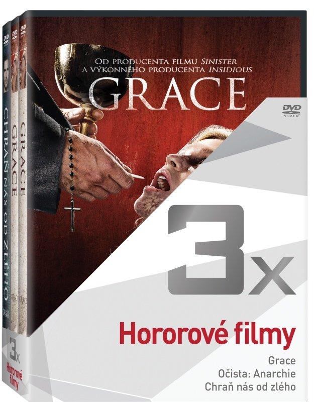 3x Hororové filmy - kolekce (Grace, Očista: Anarchie, Chraň nás od zlého) (3 DVD)