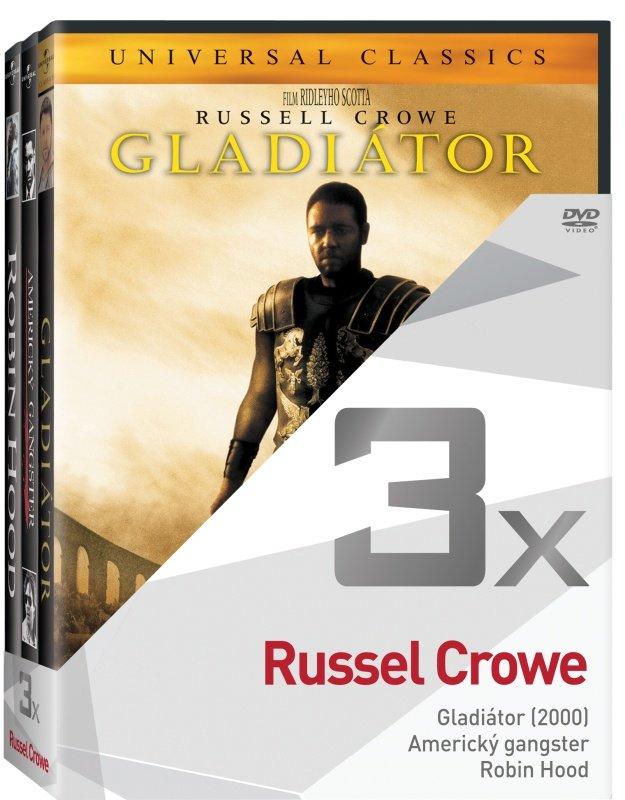 3x Russel Crowe - kolekce (Gladiátor, Americký gangster, Robin Hood) (3xDVD)