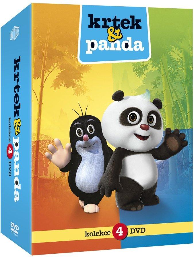 Krtek a Panda kolekce 1-4 (4DVD)