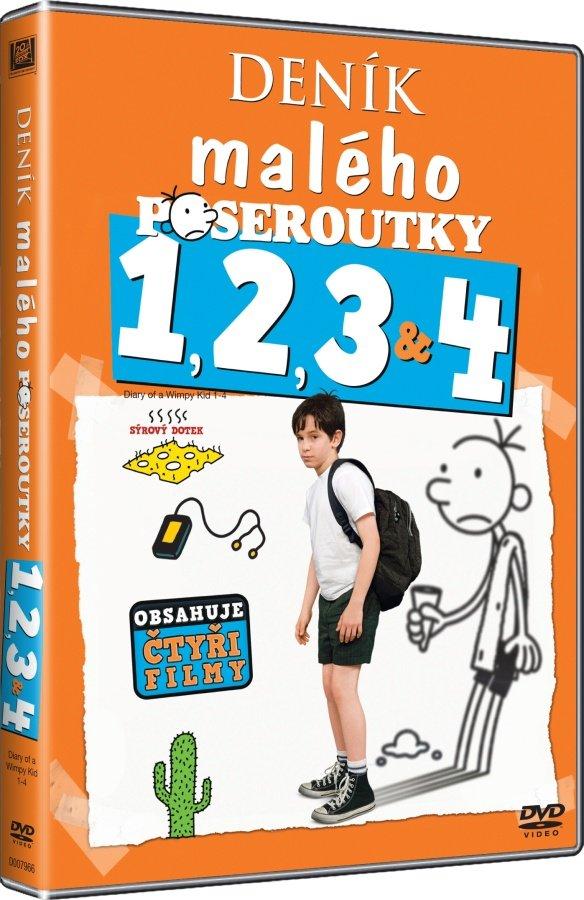 Deník malého poseroutky kolekce 1-4 (4 DVD)