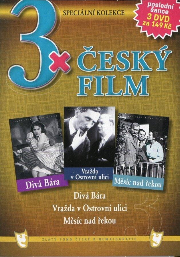 3x Český film kolekce 3DVD (papírový obal)