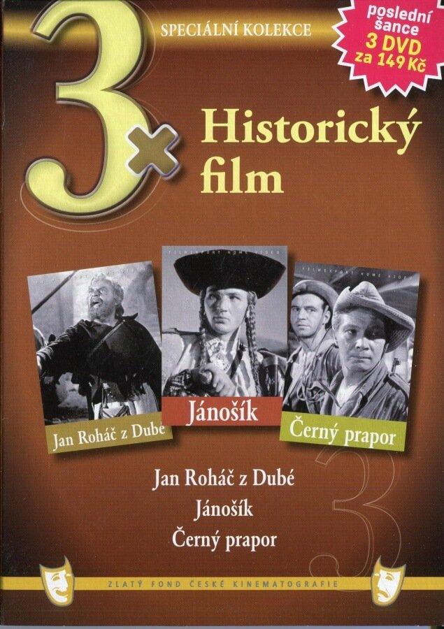 3x Historický film kolekce 3DVD (papírový obal)