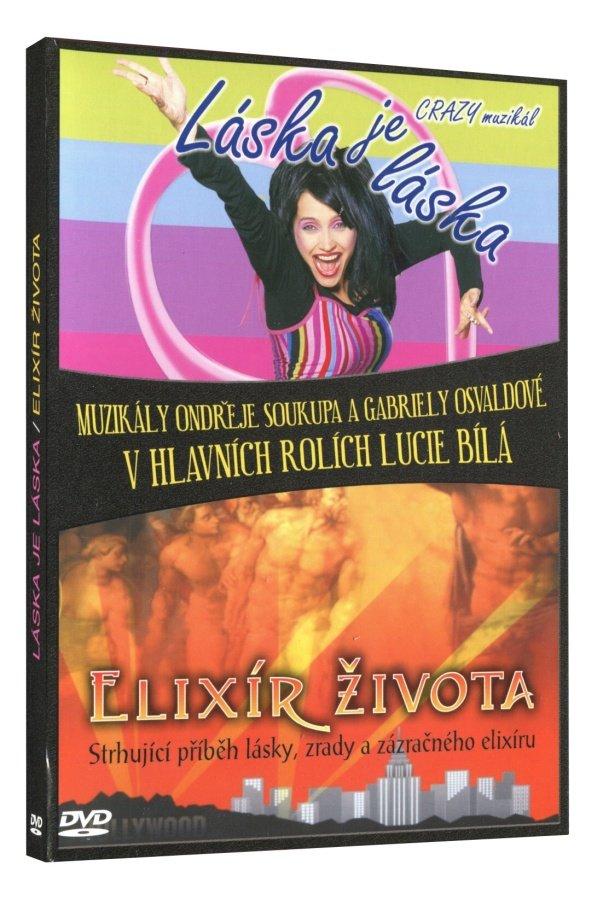 Lucie Bílá: Láska je láska, Elixír života (2 DVD) - muzikály na DVD