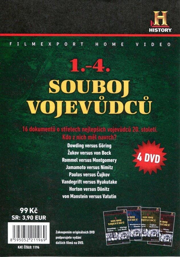 Souboj vojevůdců 1-4 kolekce (4 DVD) (papírový obal)