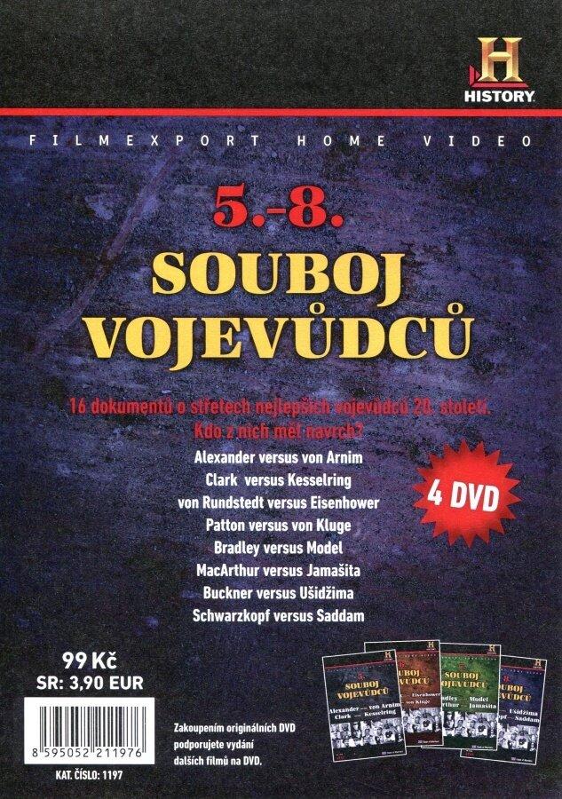 Souboj vojevůdců 5-8 kolekce (4 DVD) (papírový obal)