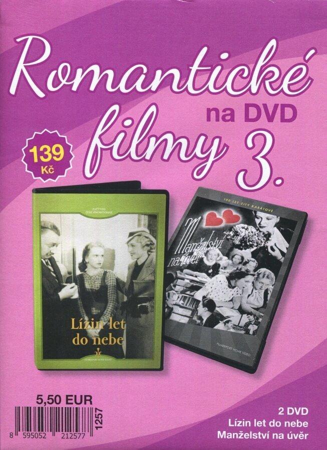 Romantické filmy na DVD 3 - kolekce (2 DVD) - digipack
