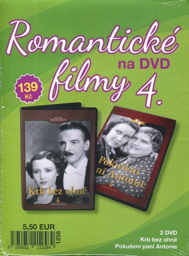Romantické filmy na DVD 4 - kolekce (2 DVD) - digipack
