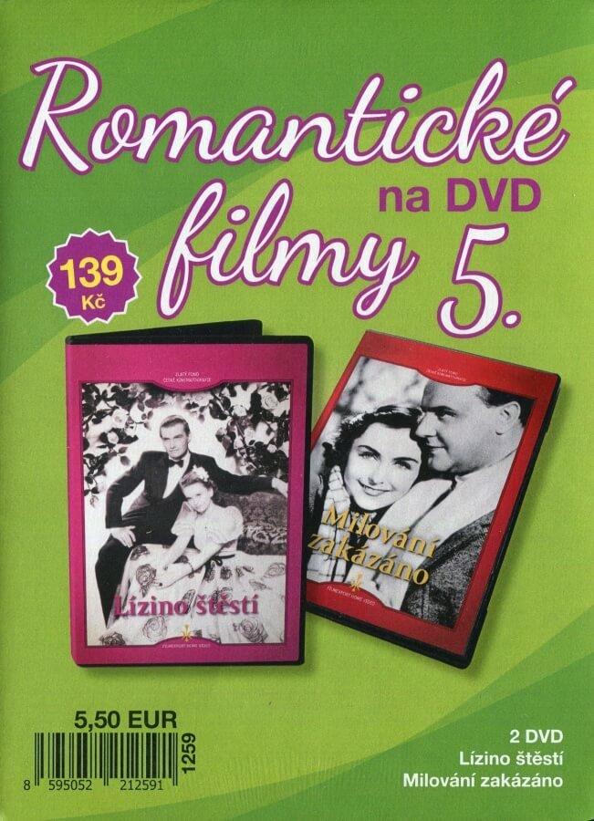 Romantické filmy na DVD 5 - kolekce (2 DVD) - digipack