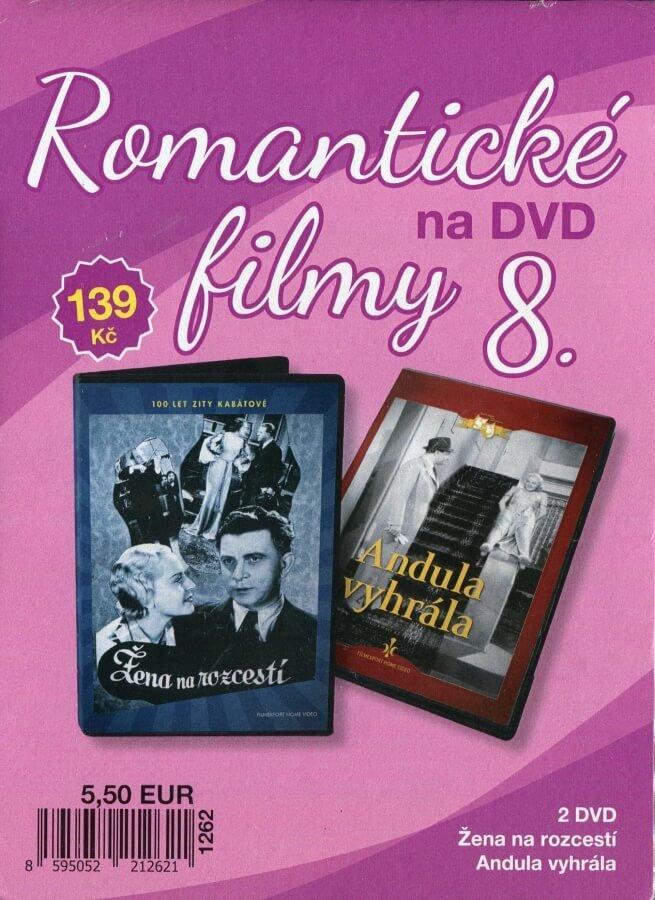 Romantické filmy na DVD 8 - kolekce (2 DVD) - digipack