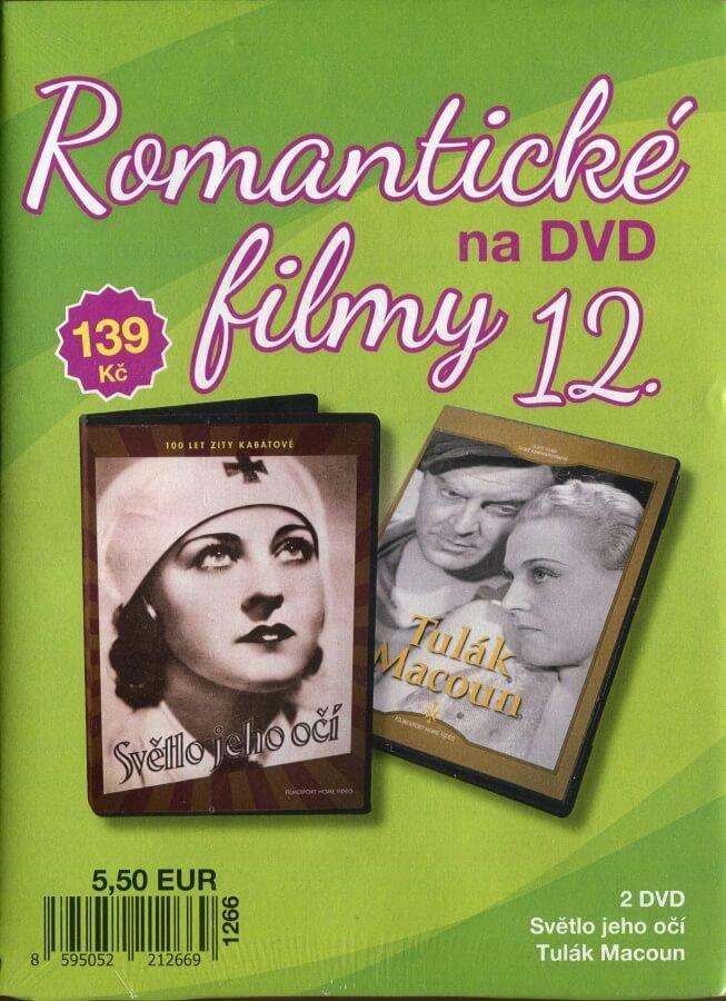 Romantické filmy na DVD 12 - kolekce (2 DVD) - digipack