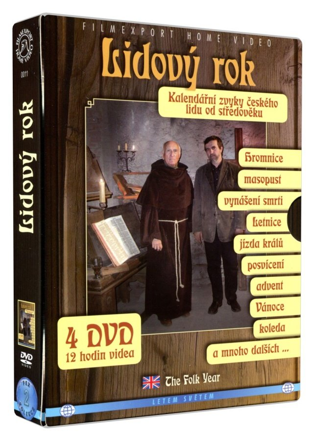Lidový rok - Kalendářní zvyky českého lidu od středověku (4 DVD)