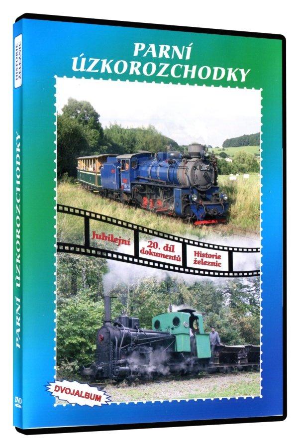 Historie železnic: PARNÍ ÚZKOROZCHODKY (2 DVD)