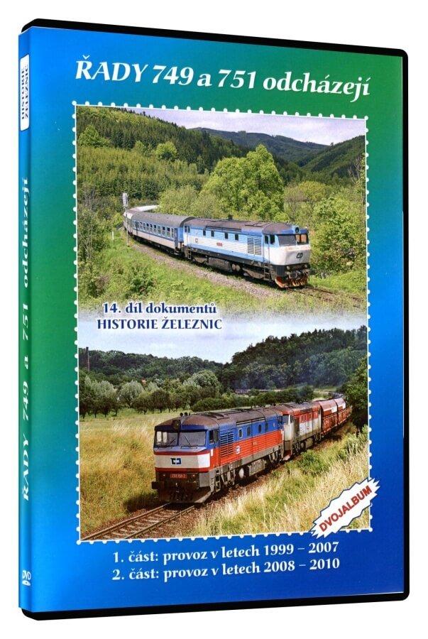 Historie železnic: LOKOMOTIVY ŘAD 749 a 751 ODCHÁZEJÍ (2 DVD)