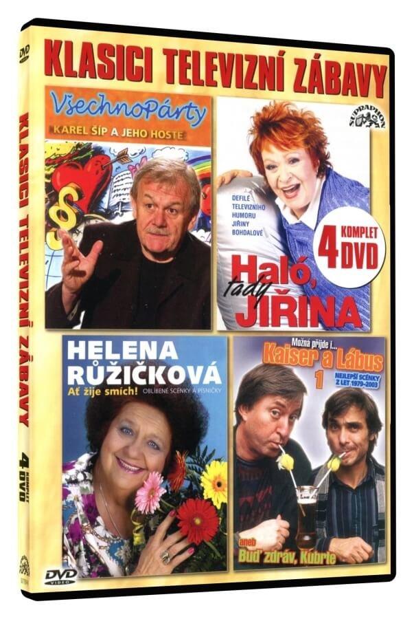 Klasici televizní zábavy (4 DVD)