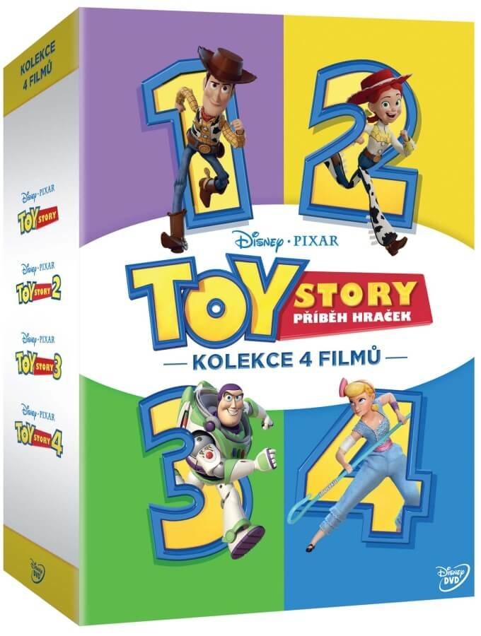 Toy Story: Příběh hraček kolekce 1-4 (4 DVD)