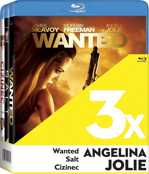 3x Angelina Jolie (Cizinec, Wanted, Salt) - 3xBLU-RAY