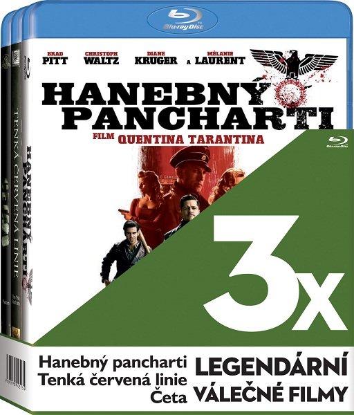 3x Leg. válečné filmy (Četa, Tenká červená linie, Hanebný pancharti) - 3xBLU-RAY